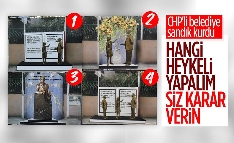 CHP'li İzmit Belediyesi dikeceği heykeli halk oylamasına sundu