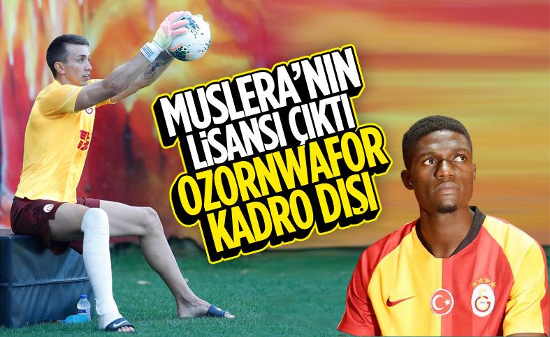 Galatasaray'da Valentine Ozornwafor'un lisansı çıkarılmayacak