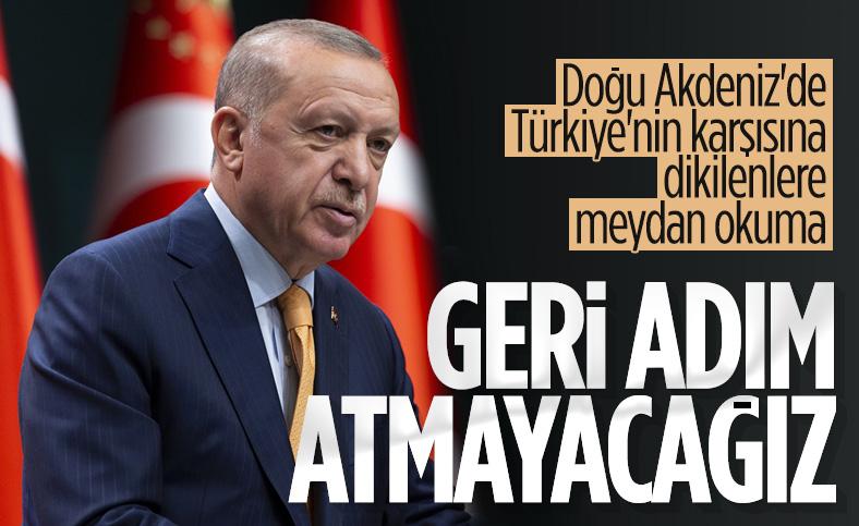 Cumhurbaşkanı Erdoğan: Türkiye, Doğu Akdeniz meselesinde geri adım atmayacak