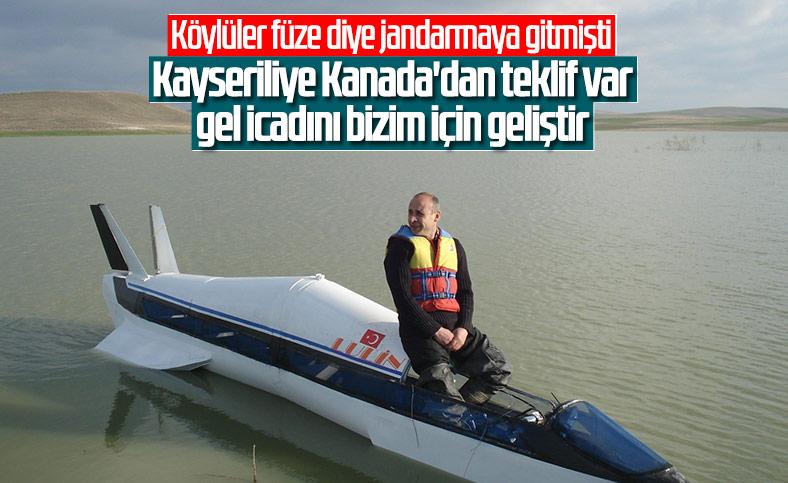 Kayseri'de suda gidebilen yüksek hızlı araç yaptı, Kanada talip oldu