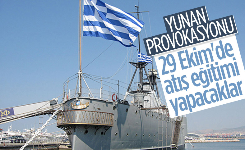 Yunanistan, 29 Ekim'de atış eğitimleri için Navtex ilan etti