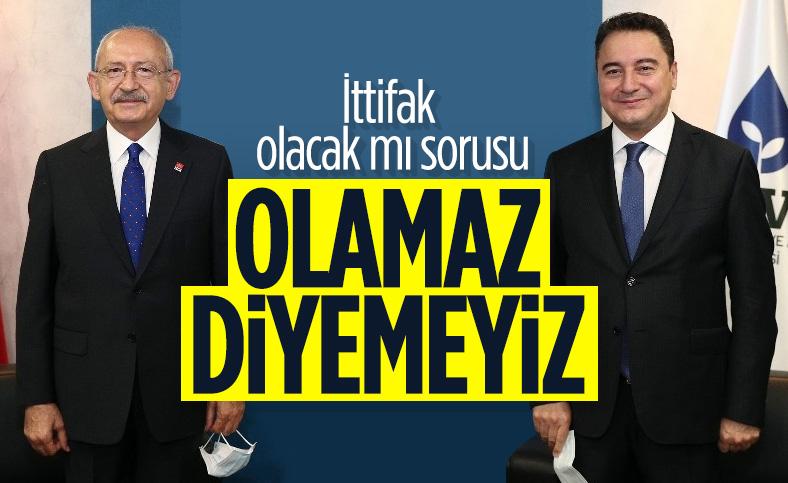 Kemal Kılıçdaroğlu , Ali Babacan ile ittifak sorusuna cevap verdi