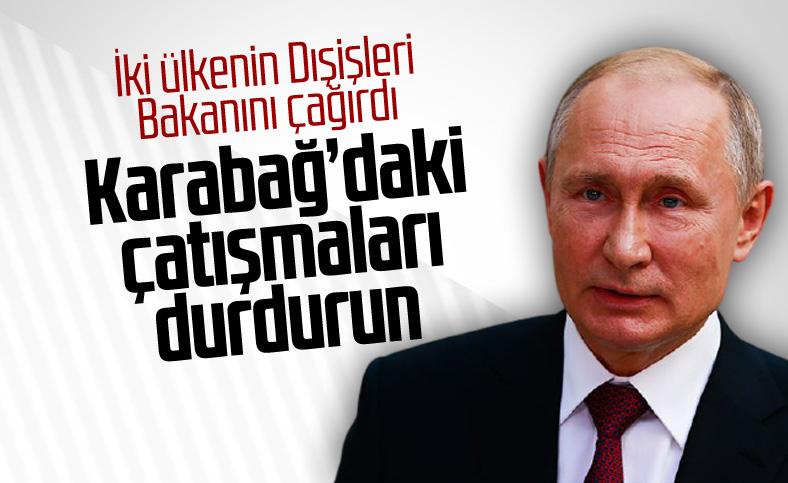 Putin, Karabağ'daki çatışmaların durdurulması çağrısında bulundu