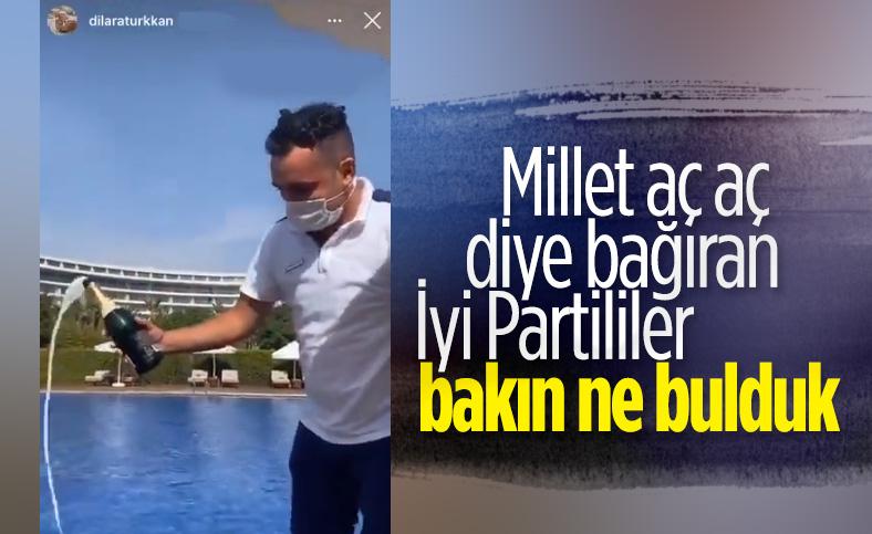 İyi Partili Lütfü Türkan'ın kızından şampanyalı paylaşım