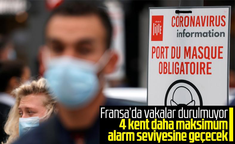 Fransa'da 4 şehir daha maksimum alarm seviyesine geçecek