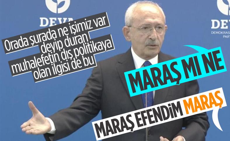Kemal Kılıçdaroğlu'nun Maraş sorusuna verdiği tepki