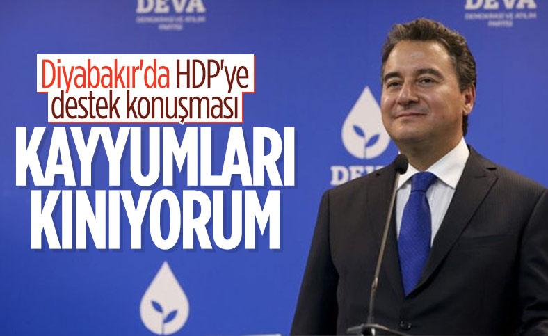 Ali Babacan'dan HDP'lilere destek