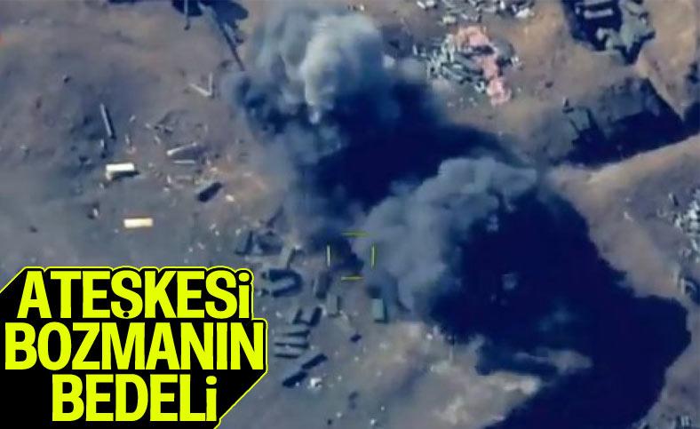 Ateşkesi bozan Ermeni mevzileri vuruldu