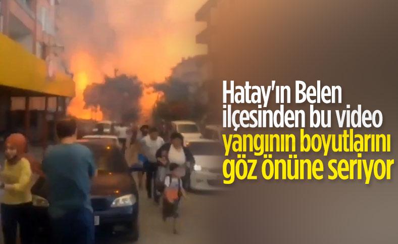 Hatay'da orman yangını, yerleşim yerlerine sıçradı