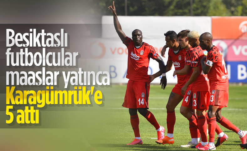 Beşiktaş hazırlık maçında Karagümrük'ü 5 golle yendi