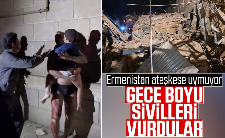 Ermenistan Gence'ye yüzlerce füze ile saldırdı