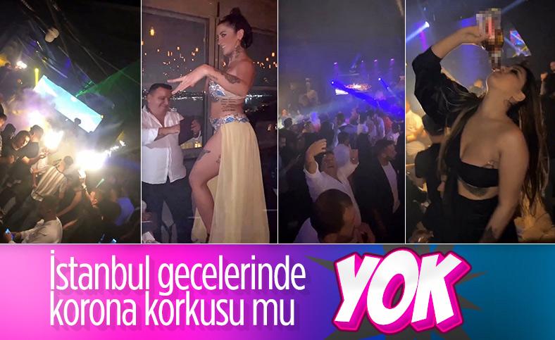 İstanbul'un göbeğindeki gece kulübünde dansözlü parti