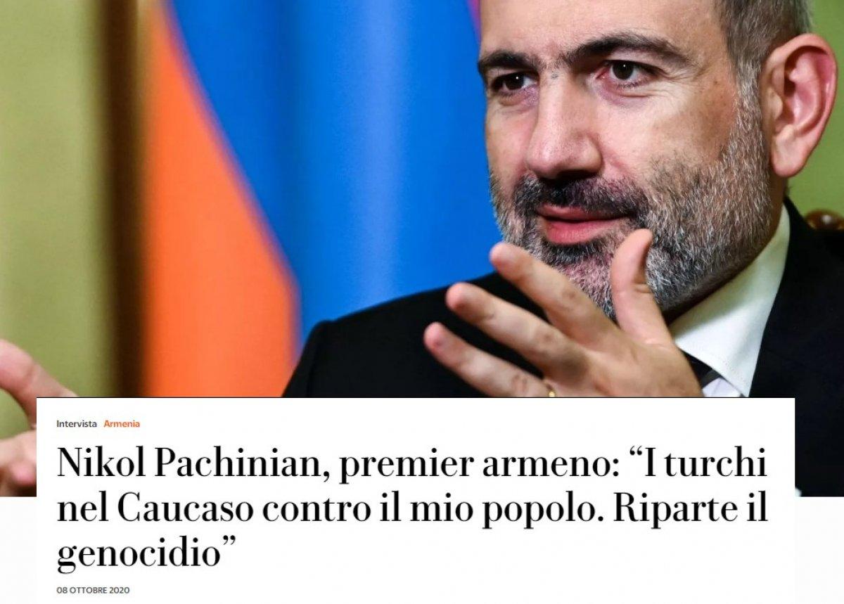 Paşinyan, Ermenilerin soykırım tehlikesi altında olduğunu iddia etti #1