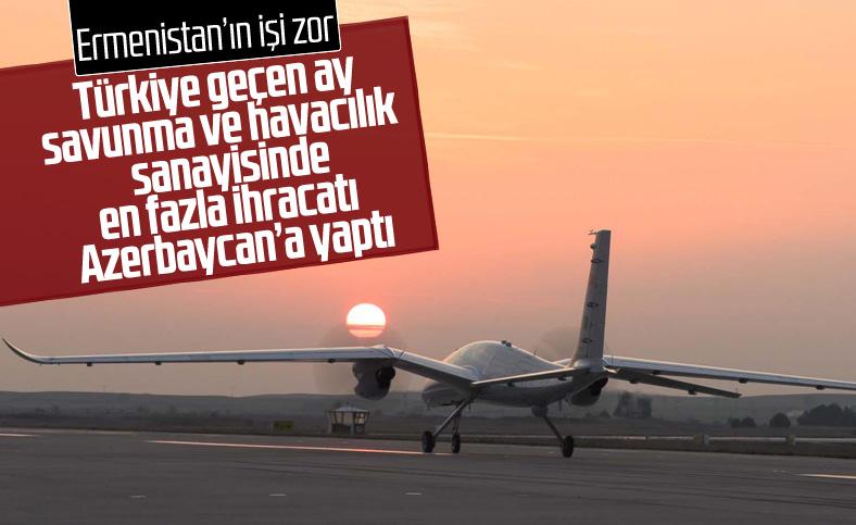 Savunma ve havacılık sanayi ihracatında en büyük pay Azerbaycan'ın