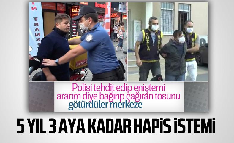 Tuzla'da polise direnen Cihan Aksu için hapis istemi