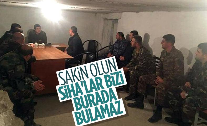Ermenistan'ın sözde Karabağ lideri Harutyan, SİHA korkusundan sığınağa girdi