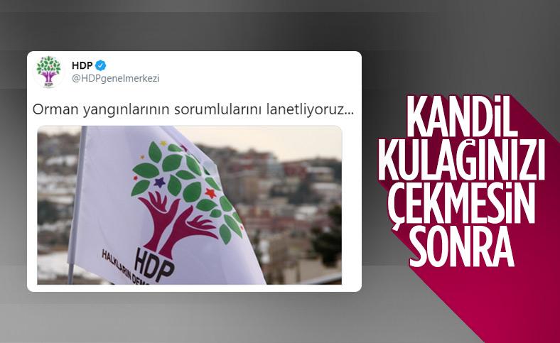 Hatay'daki yangına ilişkin HDP'den kınama