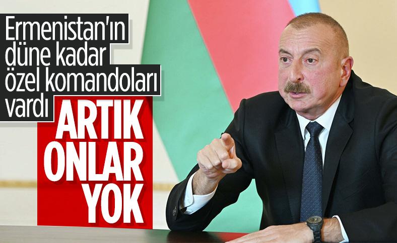 Azerbaycan Cumhurbaşkanı İlham Aliyev: Ermenistan'ın özel komandoları etkisiz hale getirildi
