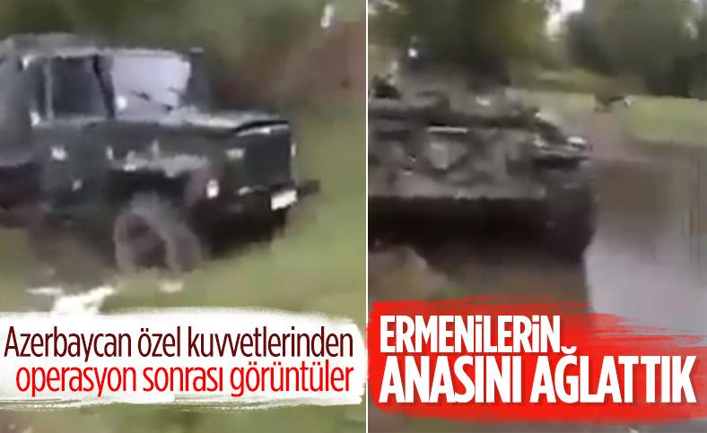 Azerbaycan ordusundan operasyon sonrası görüntüler