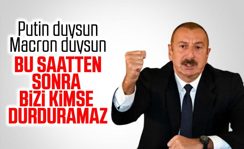 Aliyev: Sonuna kadar bu yolda gideceğiz