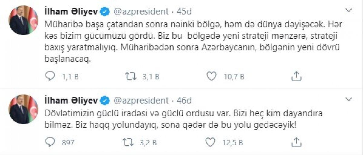 Aliyev: Sonuna kadar bu yolda gideceğiz #1
