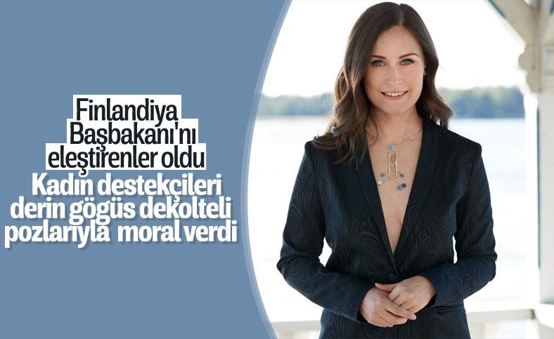 Finlandiya Başbakanı'nın derin göğüs dekoltesi ortalığı karıştırdı