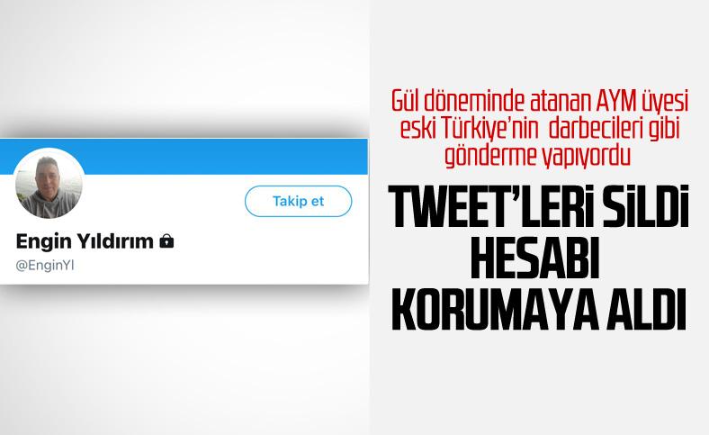 AYM üyesi Engin Yıldırım, Twitter hesabını korumaya aldı