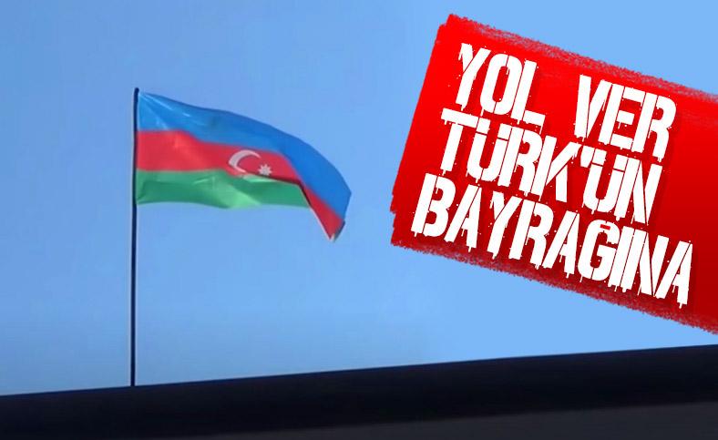 İşgalden kurtarılan Hadrut'a Azerbaycan bayrağı dikildi