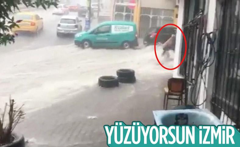 İzmir'de sel sularına kapılan Azerbaycanlı kadın