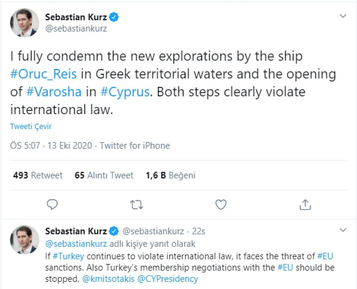 Avusturya Başbakanı Sebastian Kurz, Türkiye yi tehdit etmeye kalktı #1