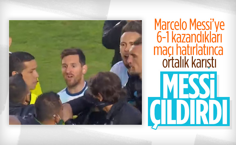 Messi, Marcelo Moreno ile maç sonu kavga etti