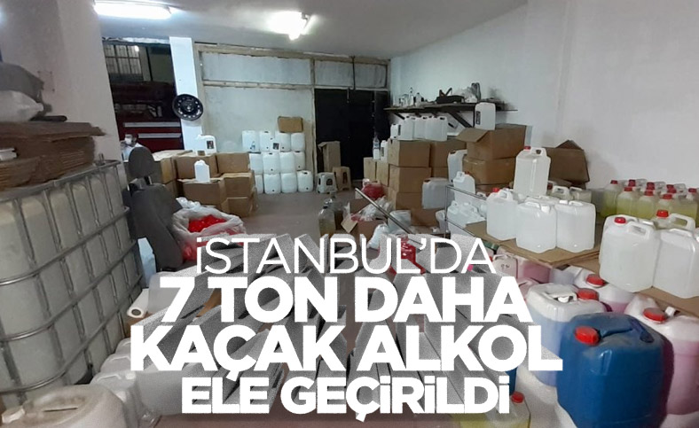 İstanbul'da sahte içki imalathanesinde 7 ton alkol bulundu