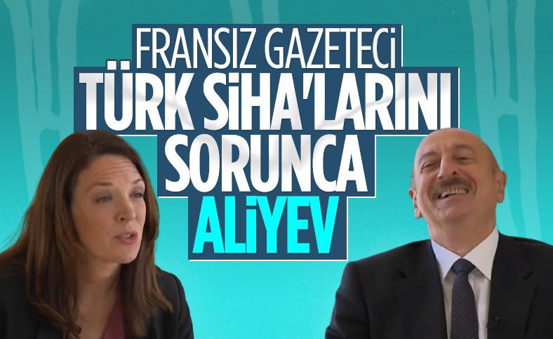 Fransız sunucunun drone sorusu İlham Aliyev'i güldürdü