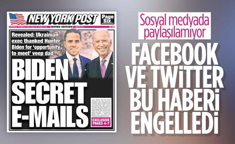 Facebook ve Twitter'dan Biden'ın oğluyla ilgili haberlere sansür