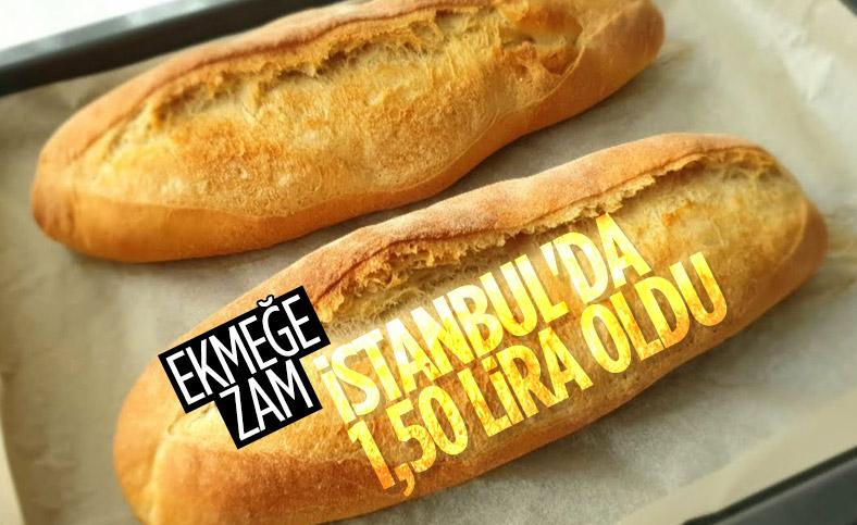 İstanbul'da ekmeğe zam
