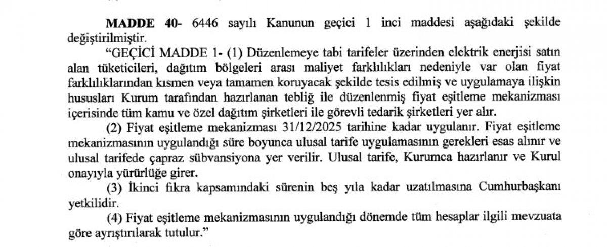 Elektrikte kayıp kaçak bedelini 5 yıl daha vatandaşa ödetecek kanun teklifi, Meclis te #3