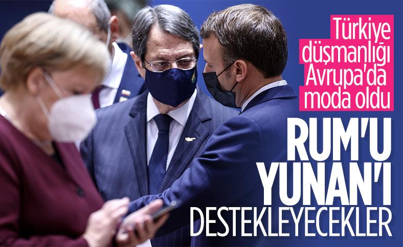 Macron: Güney Kıbrıs ve Yunanistan'ı destekliyoruz