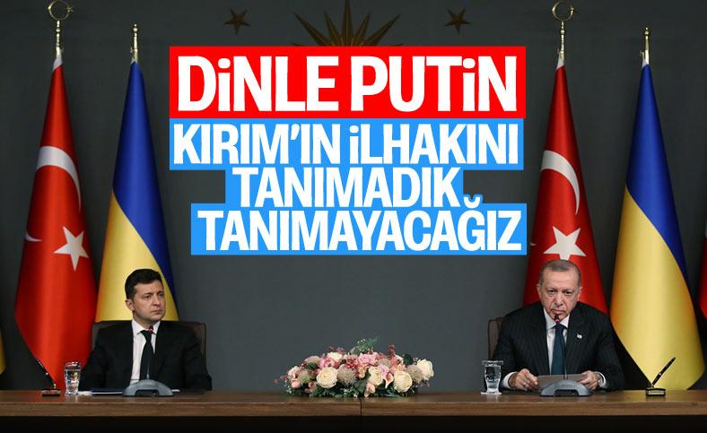 Cumhurbaşkanı Erdoğan ve Zelenski'nin ortak basın toplantısı