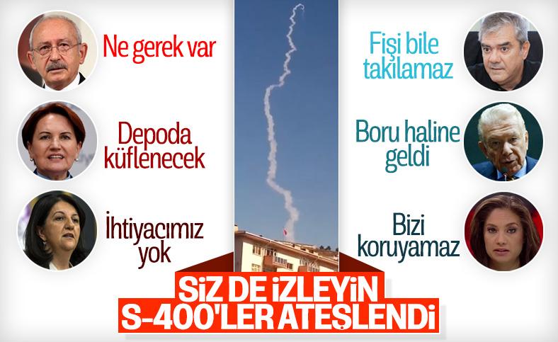 Sinop'ta S-400 hava savunma sistemi füzesi ilk kez ateşlendi