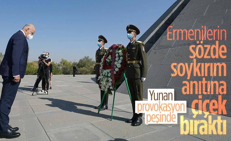 Ermenistan'a giden Yunan bakan sözde soykırım anıtını ziyaret etti