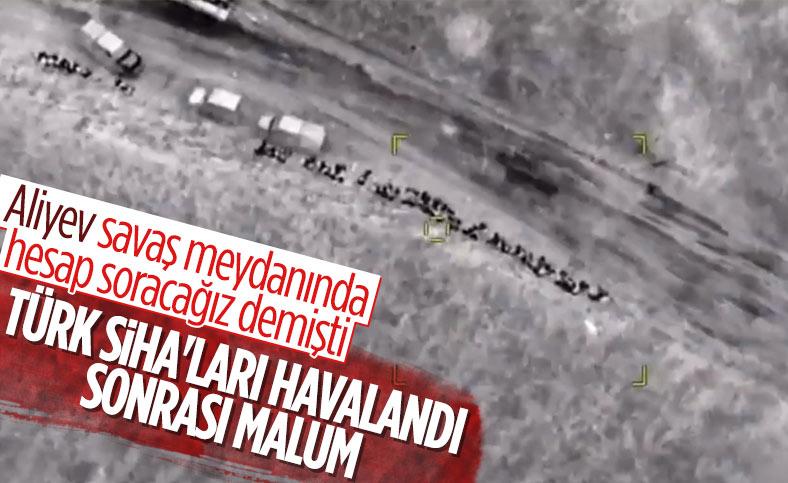 Azerbaycan'ın SİHA'larla havaya uçurduğu Ermeni askerleri