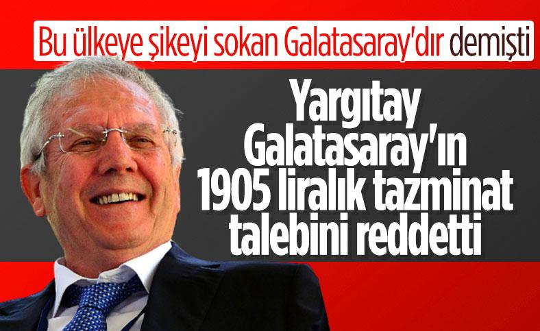Galatasaray'ın Aziz Yıldırım'a açtığı dava reddedildi