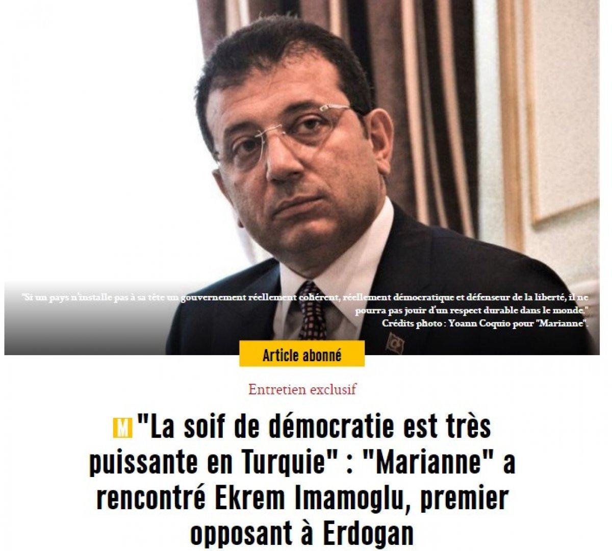 Ekrem İmamoğlu Fransız basınına Türkiye'yi şikayet etti #1