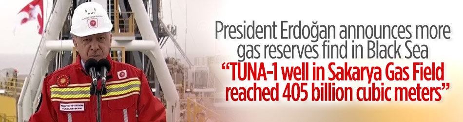 President Erdoğan announces more gas reserves find in Black Sea