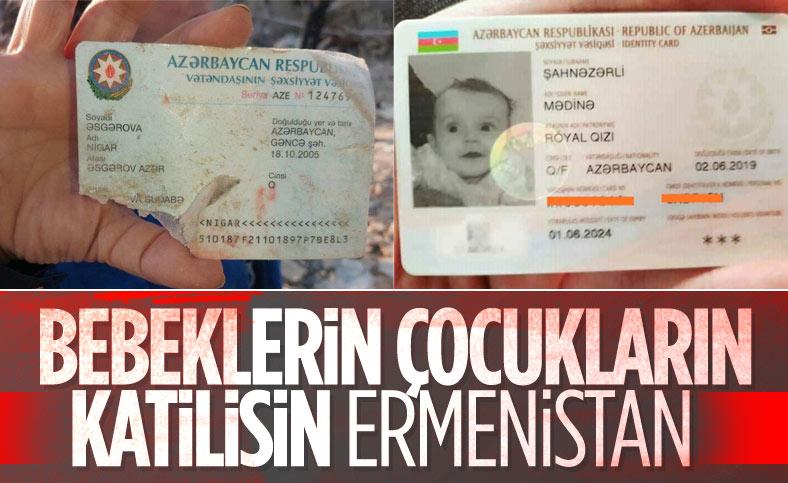 Ermenistan'ın saldırısında bebek ve çocuklar da hayatını kaybetti