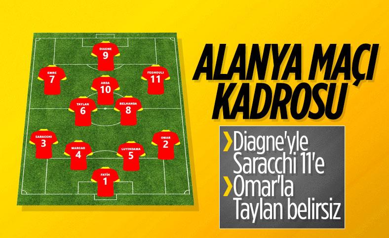 Fatih Terim'in Alanyaspor maçı 11'i