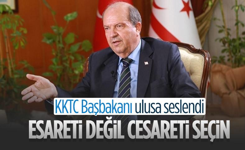 KKTC Cumhurbaşkanı Adayı Ersin Tatar ulusa seslendi
