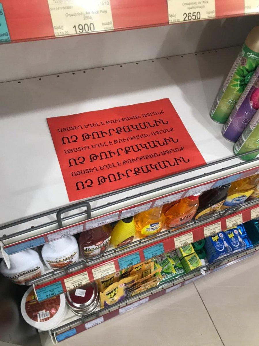Ermenistan da Türk malları, market raflarından kaldırıldı #1