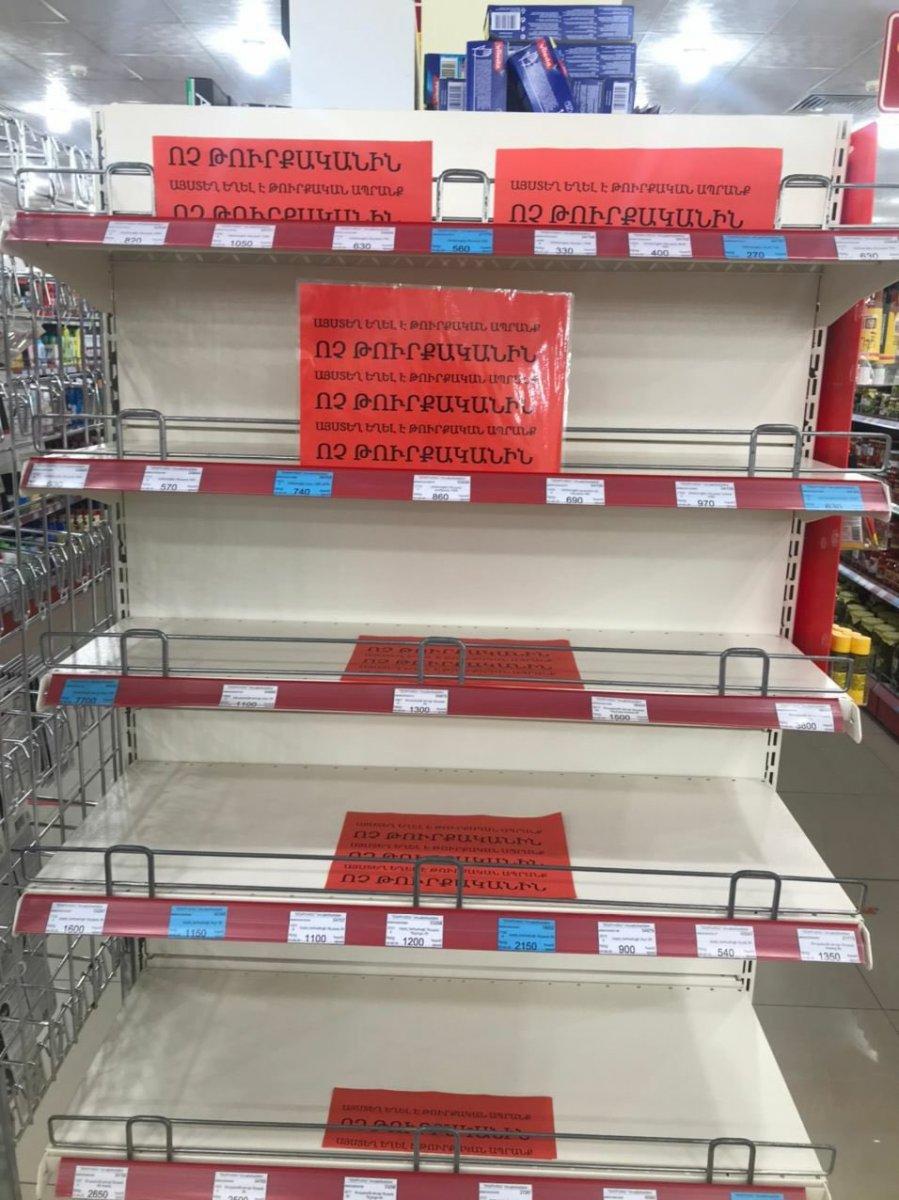 Ermenistan da Türk malları, market raflarından kaldırıldı #2