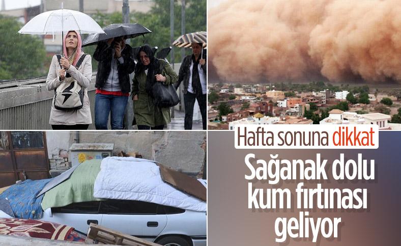 Marmara ve Ege için dolu, sağanak ve fırtına uyarısı